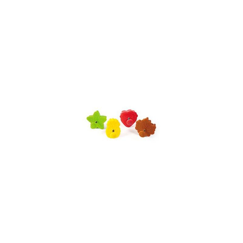 Formelės sausainiams gaminti 4 vnt Silikomart MINI COOKIE 4 SIL-ACC088