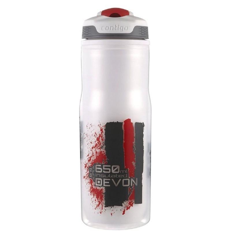 Gertuvė vandeniui Contigo Devon Insulated CON1000-0187, su raudonu raštu, 650 ml