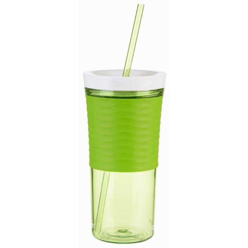 Gertuvė-kokteilinė su šiaudeliu Contigo Shake & Go CON1000-0325, žalia, 540 ml