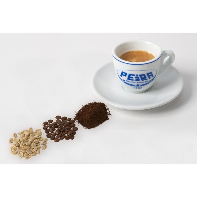 Keramikinis puodelis cappuccino kavai Pera Puod_Cap, 140 ml, su lėkštute
