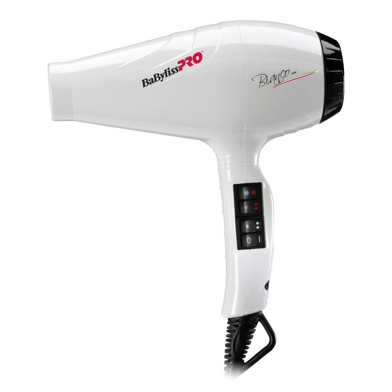 Plaukų džiovintuvas BaByliss PRO Luminoso Bianco BAB6360IE su jonų technologija