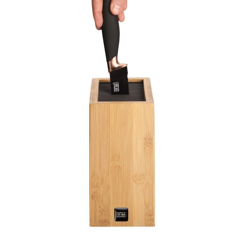 Peilių stovas Taylor Eye, TEPSKBES2  pagamintas iš natūralaus bambuko