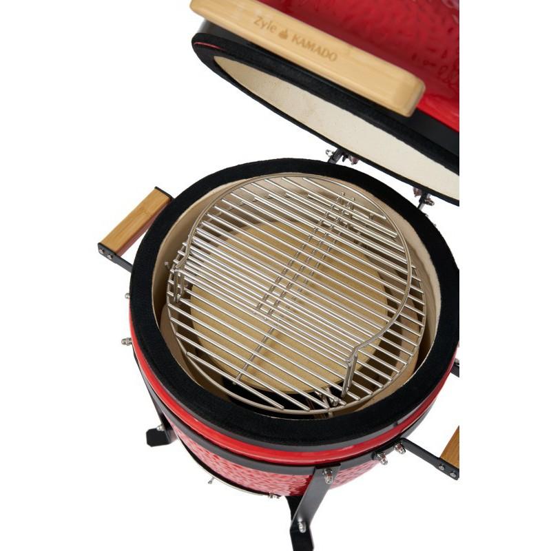 Kamado grilis su priedais Zyle Starter ZY16RDSET 42 cm, raudonas