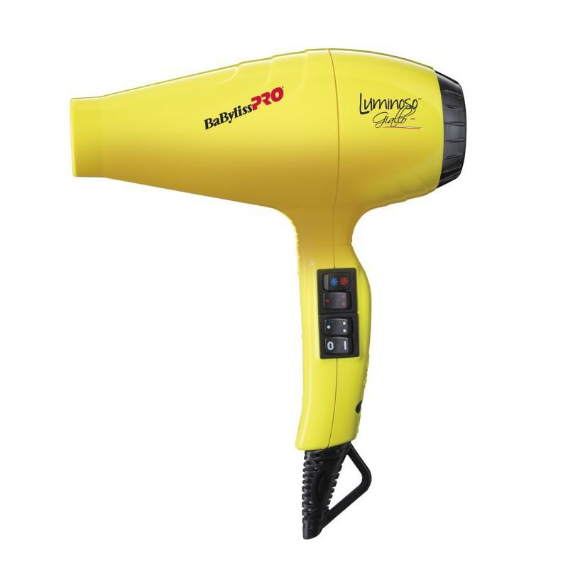 Profesionalus plaukų džiovintuvas BaByliss PRO Luminoso Giallo BAB6350IYE su jonų technologija, 2000 W