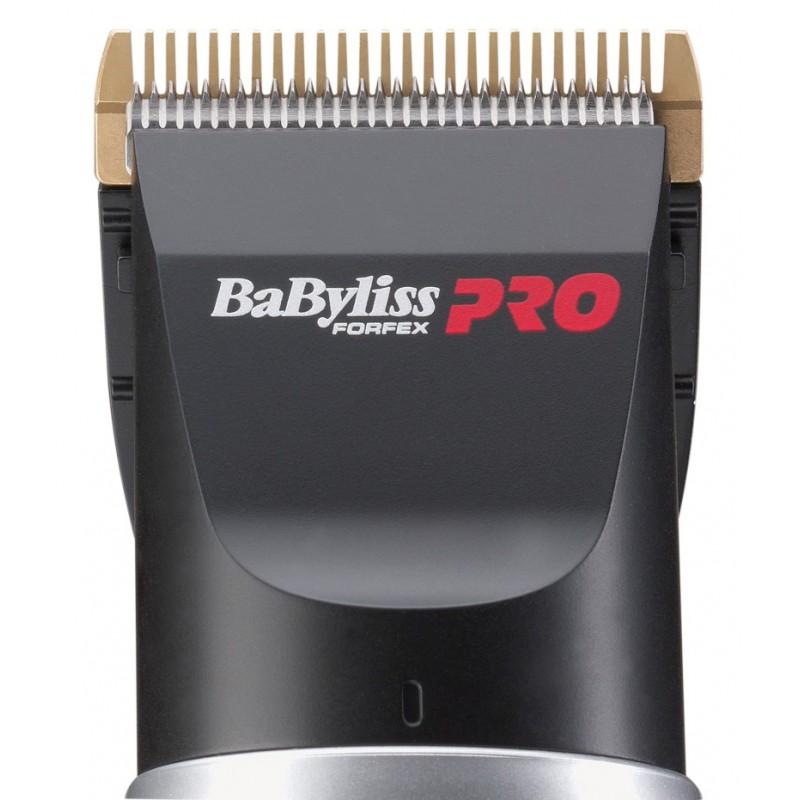 Įkraunama plaukų kirpimo mašinėlė BaByliss PRO FX660SE su stovu ir metaliniais peiliukais
