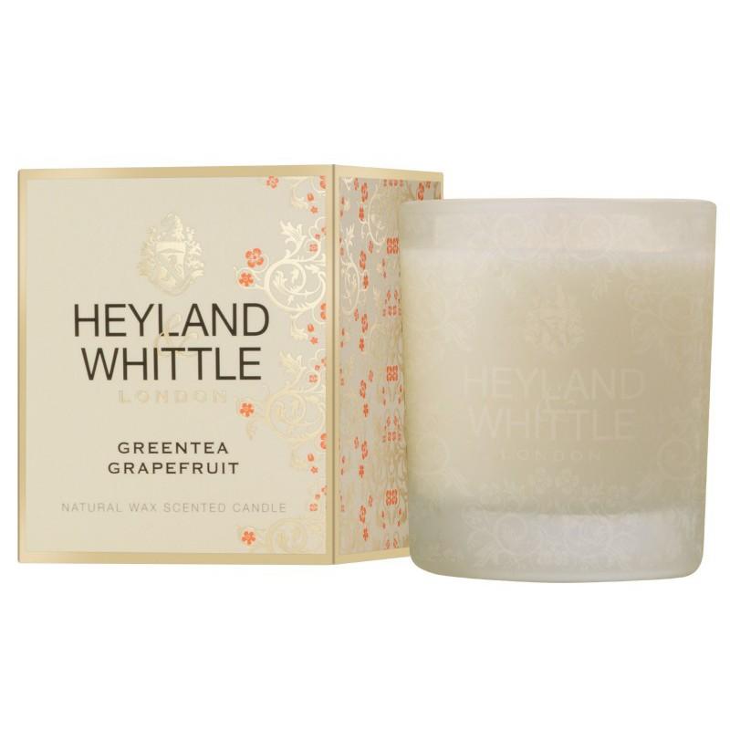 Aromatinė žvakė Heyland & Whittle Gold Classic Greentea Grapefruit Candle In A Glass HW285, 230 g