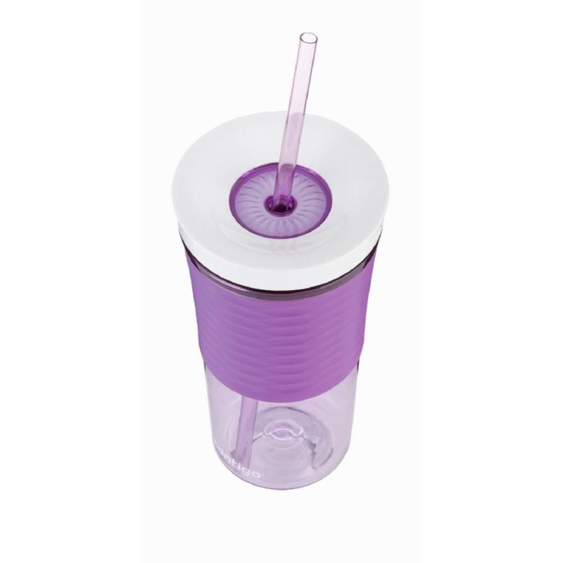 Gertuvė-kokteilinė su šiaudeliu Contigo Shake & Go 1000-0326, violetinė, 540 ml