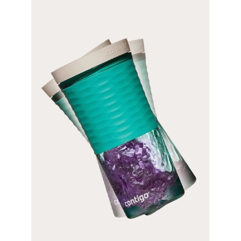 Gertuvė-kokteilinė su šiaudeliu Contigo Shake & Go 2095672 šviesiai mėlyna, 540 ml