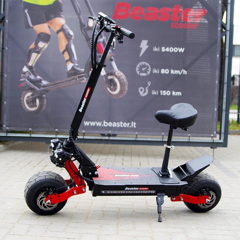 Elektrinis. paspirtukas Beaster Scooter BS10, 2000 W, 60 V 26 Ah, hidrauliniai stabdžiai