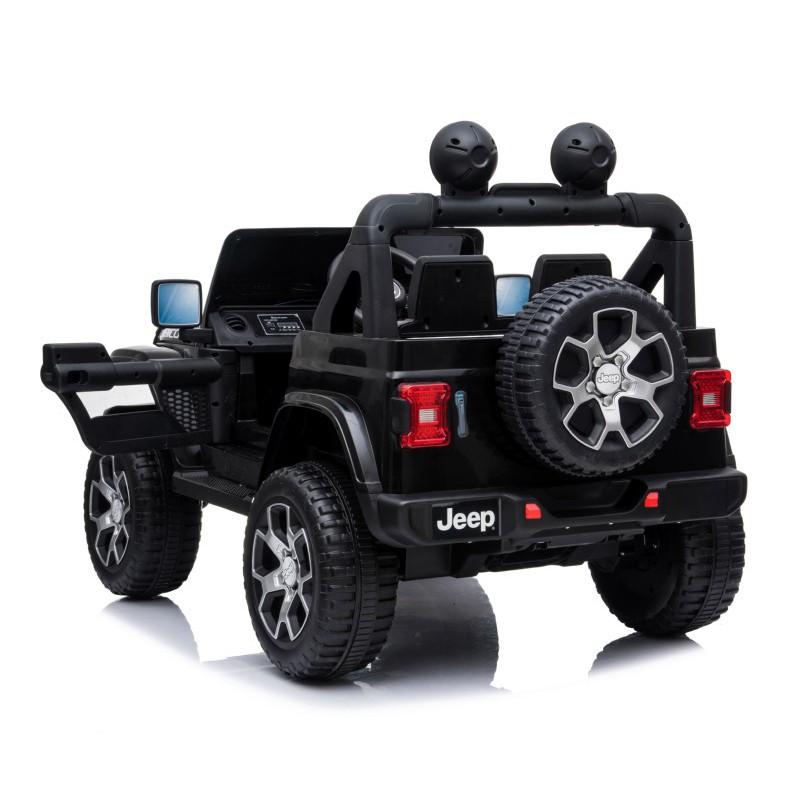 Vaikiška elektrinė mašinėlė Jeep Wrangler DK-JWR555, juoda