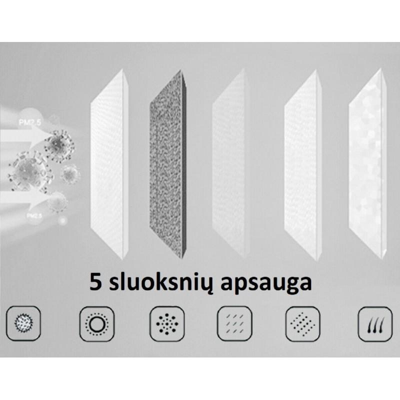 Apsauginės veido kaukės daugkartiniam naudojimui Disinfectable Reusable Nano Mask, MA00017, pakuotėje 2 vnt.