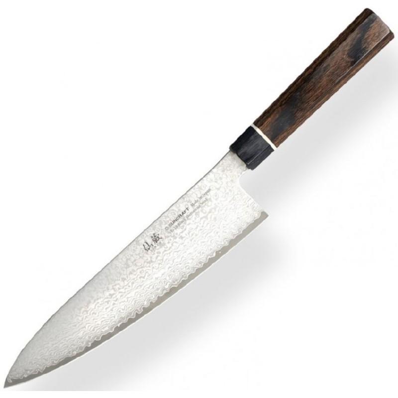 Damasko plieno peilis Senzo Black, BD-05  Chef knife, 20 cm ašmenys