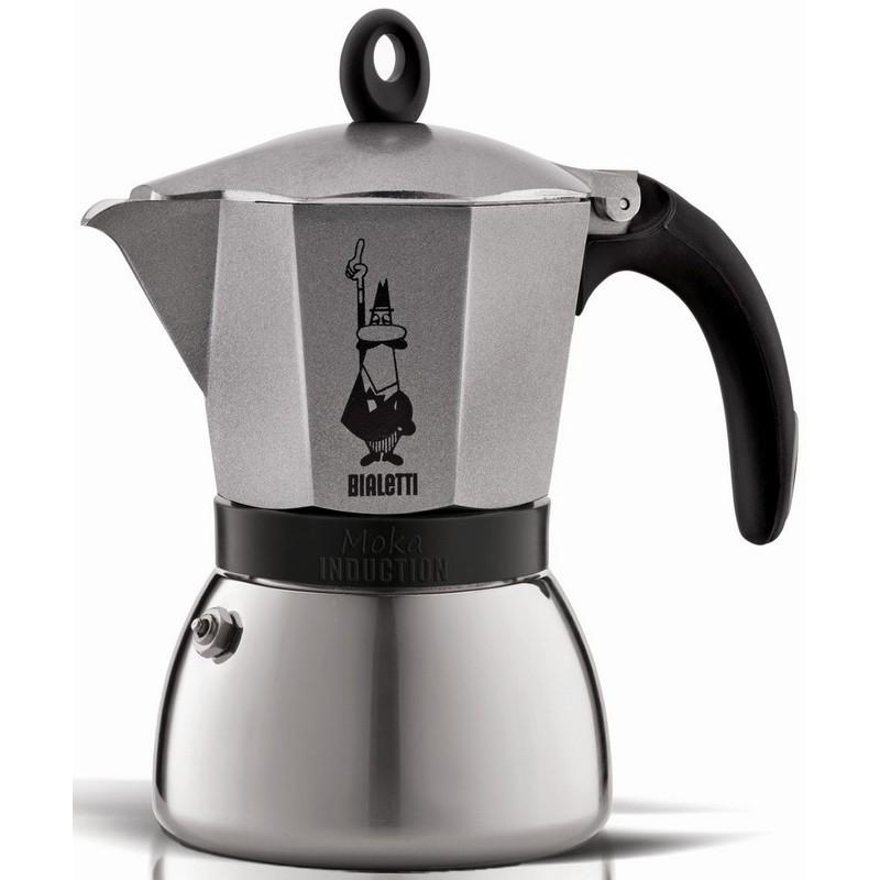 Espresso kavinukas, Antracitinis, 6 puodelių, Bialetti Moka Induction Anthracite, BIA04823X4
