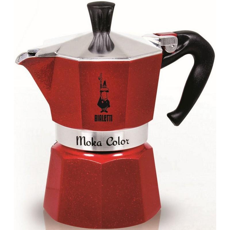 Espresso kavinukas, raudonas, 6 puodelių, Bialetti Moka Express Emotion Red, 05293
