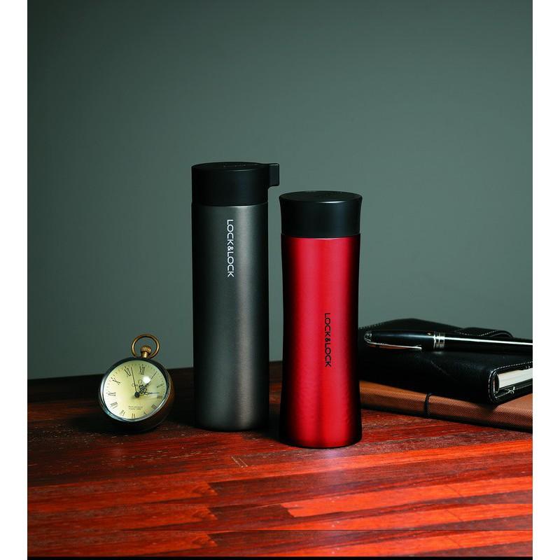 Termo puodelis Knob tumbler, Lock&Lock, LHC4121B, 400ml, juodos spalvos
