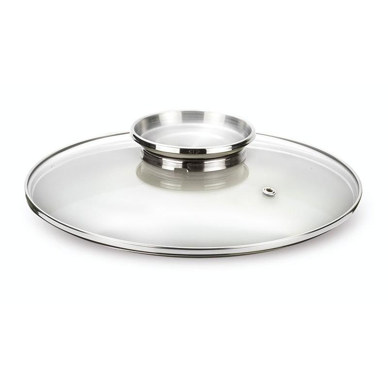 """Stiklinis dangtis Pensofal F-PEN9366  su """"Aroma"""" plienine rankena,  Ø 28 cm"""