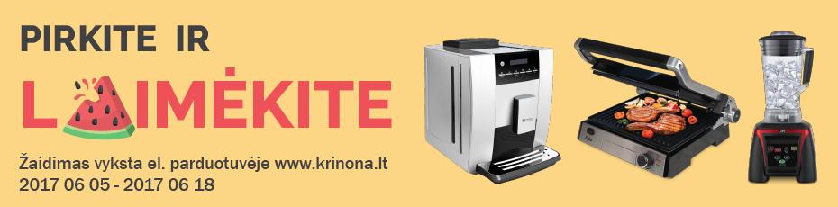 Pirkite el. parduotuvėje www.krinona.lt ir laimėkite MasterCoffee ir Zyle buitinę techniką!